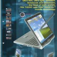 2004 XXODD PROMEDION T200C TOUCHSCREEN NOTEBOOK
